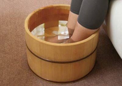 足浴で足の臭い消し