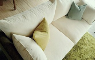 布製のソファ